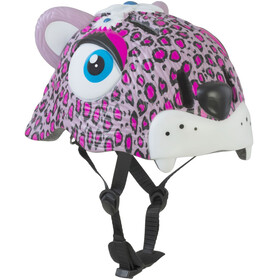Crazy Safety Leopard Helm pink
